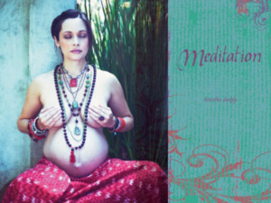 zena meditace