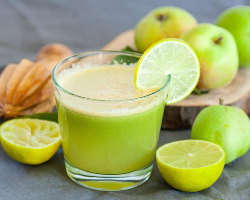 citron jablko zazvor drink