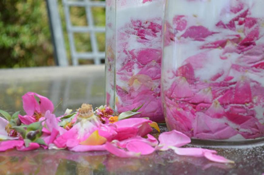 růžový sirup